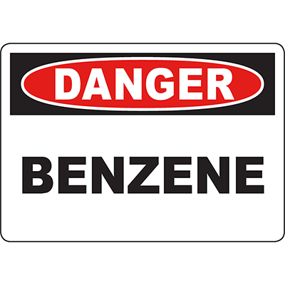 DANGER Benzene Sign