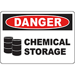 DANGER Chemical Storage Sign w/Symbol
