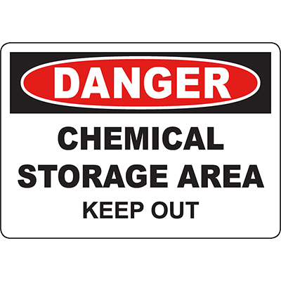 DANGER Chemical Storage Area Keep Out Sign