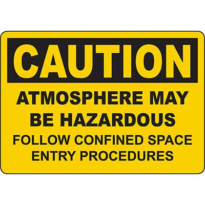 CAUTION Atmosphere May Be Hazardous Sign