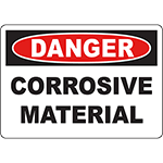 DANGER Corrosive Material Sign