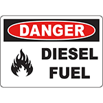 DANGER Diesel Fuel Sign w/Symbol