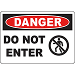 DANGER Do Not Enter OSHA Sign w/Symbol