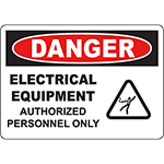 DANGER Electrical Equipment Sign w/Symbol