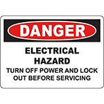 DANGER Turn Off Power And Lock Out Sign