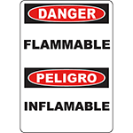 DANGER Flammable Bilingual Sign
