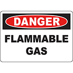 DANGER Flammable Gas Sign