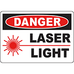 DANGER Laser Light Sign
