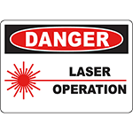 DANGER Laser Operation Sign