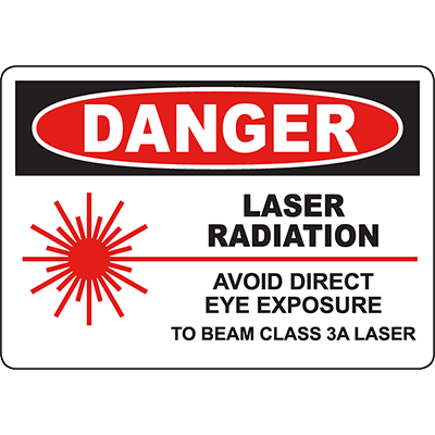DANGER Laser Avoid Direct Eye Exposure Class 3A Sign