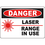 DANGER Laser Range In Use Do Not Enter Sign