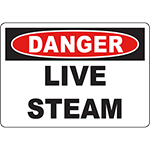 DANGER Live Steam Sign