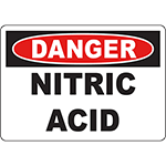 DANGER Nitric Acid Sign
