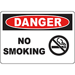 DANGER No Smoking Sign w/Symbol