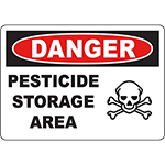 DANGER Pesticide Storage Area Sign