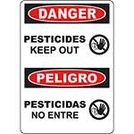 DANGER Pesticides Bilingual Sign