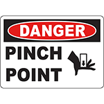 DANGER Pinch Point Sign w/Symbol