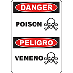 DANGER Poison Bilingual Sign