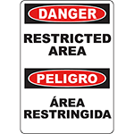 DANGER Restricted Area Bilingual Sign