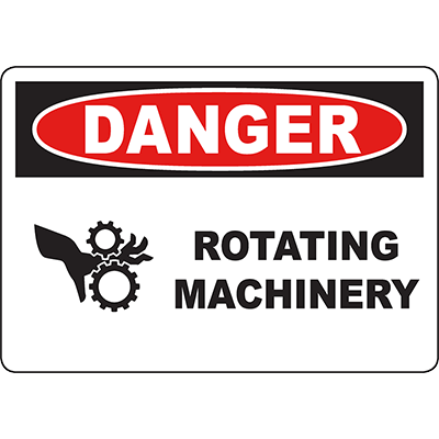 DANGER Rotating Machinery Sign