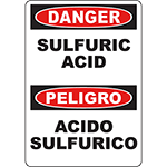DANGER Sulfuric Acid Bilingual Sign