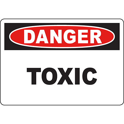 DANGER Toxic Sign