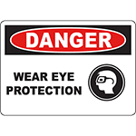 DANGER Wear Eye Protection Sign