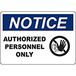 Authorized Personnel Only Labels & Signs