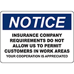 NOTICE Insurance Company Requirements Sign