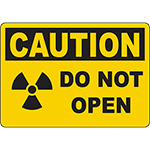 CAUTION Do Not Open Radiation Area Authorized Personnel Only Sign