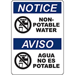 NOTICE Non-Potable Water Bilingual Sign