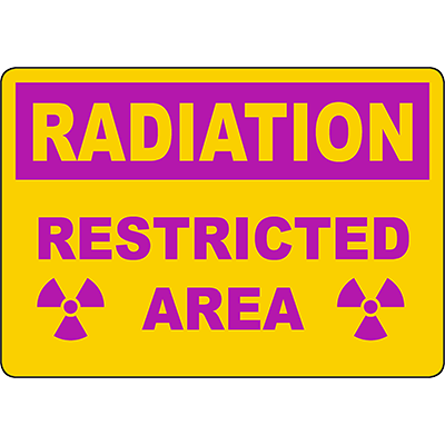 RADIATION Restricted Area Sign