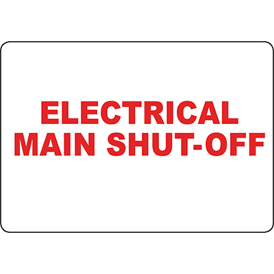 Electrical Main Shut-Off Sign