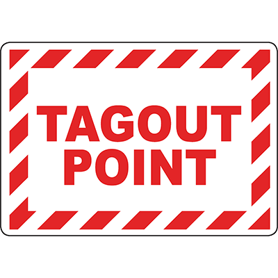 Tagout Point Sign