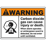 WARNING CO2 Don`t Enter When Alarm Sounds Sign