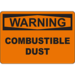 WARNING Combustible Dust Sign