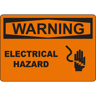 WARNING Electrical Hazard Sign w/Symbol