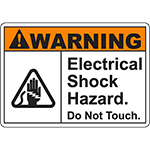 WARNING Electrical Shock Hazard Sign