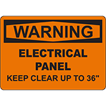 WARNING Electrical Panel Sign