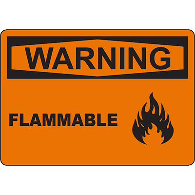 WARNING Flammable Sign