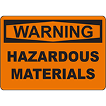 WARNING Hazardous Materials Sign