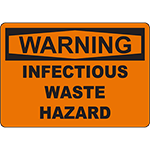 WARNING Infectious Waste Hazard Sign