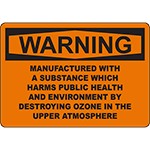 WARNING Substance Harms Environment Sign