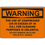 WARNING Do Not Remove Or Alter Nozzle Sign