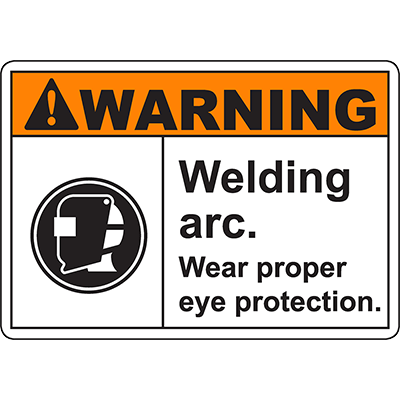 WARNING Welding Arc Sign