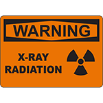 WARNING X-Ray Radiation Sign