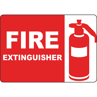 Fire Extinguisher Sign w/Symbol
