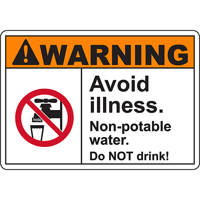 WARNING Avoid Illness Sign