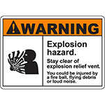 WARNING Explosion Hazard Sign