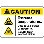 CAUTION Extreme Temperatures Sign